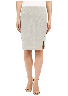 Three Dots Edda Seamed Skirt w/ Slit