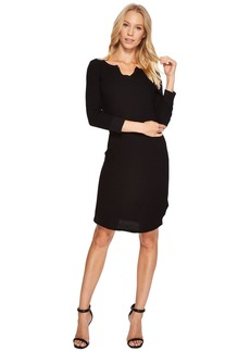Three Dots Fireside Thermal Henley Dress