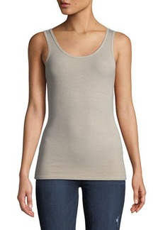 Three Dots Fitted Ribbed Jersey Tank