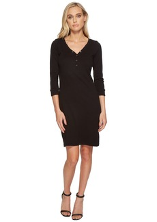 Three Dots Heritage Knit Henley Dress