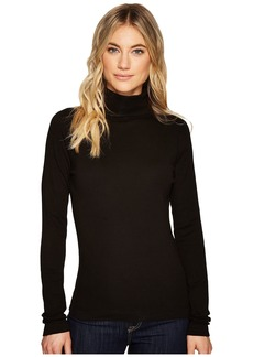 Three Dots Heritage Rib Long Sleeve Turtleneck