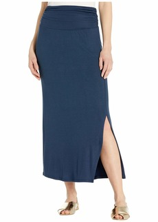 Three Dots Luxe Rib Max Skirt