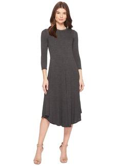 Three Dots Melange Sweater 3/4 Sleeve Dress
