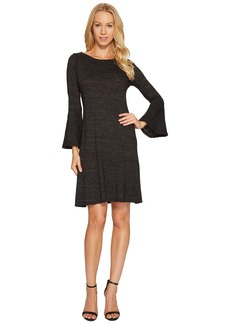 Three Dots Nepp Jersey Flutter Sleeve Dress