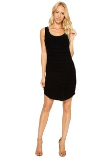 Three Dots Pintuck Jersey Tank Dress