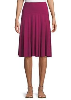 Three Dots Pleated Jersey Skirt