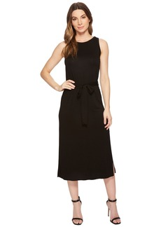 Three Dots Refined Jersey Easy Midi Dress