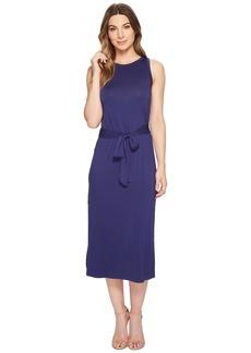 Three Dots Refined Jersey Easy Midi Dress