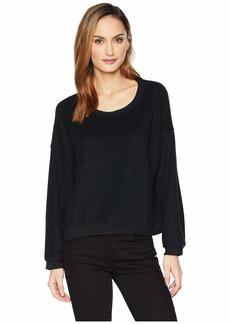 Three Dots Sherpa Yarn-Dye Sweatshirt