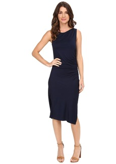 Three Dots Sleeveless Dress with Side Shirring A