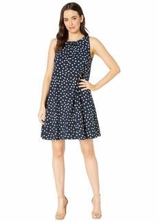 Three Dots Spring Dot Print Dress