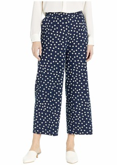 Three Dots Spring Dot Print Pull-On Pants