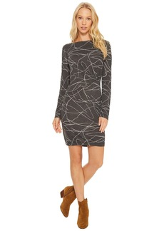 Three Dots Squigly Burnout Pleated Dress