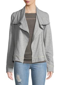 Three Dots Stretch-Knit Moto Jacket