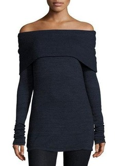 Three Dots Alexandra Off-the-Shoulder Long-Sleeve Top
