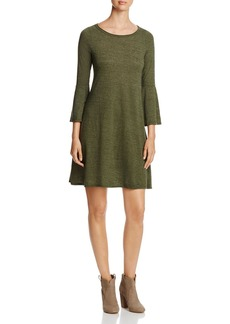 Three Dots Bell-Sleeve Dress