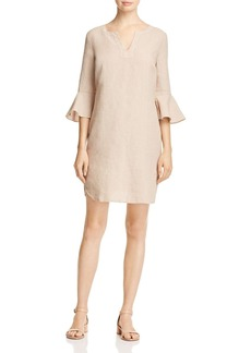 Three Dots Bell Sleeve Linen Dress