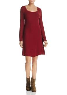 Three Dots Bell Sleeve Ribbed Knit Dress