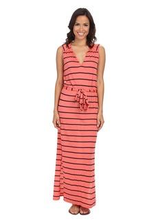 Three Dots Belted Maxi Dress
