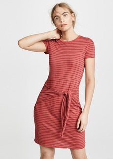 Three Dots Big Sur Stripe Tie Front Dress