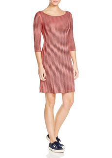Three Dots British Chevron Stripe Dress