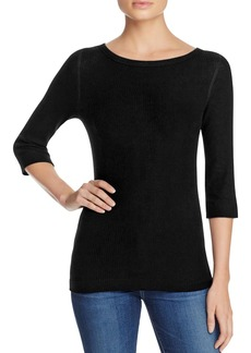 Three Dots Brushed Boatneck Top