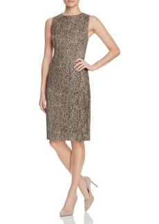 Three Dots Bryce Leopard Print Sheath Dress