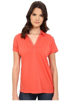 Three Dots Cap Sleeve Polo