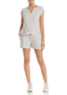 Three Dots Cape Cod Striped Romper