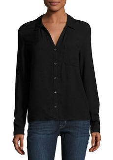 Three Dots Classic Button-Front Shirt