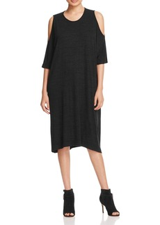 Three Dots Cold Shoulder Tee Dress
