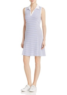 Three Dots Collared Stripe Tee Dress
