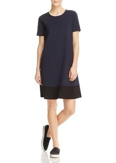 Three Dots Color Block Ponte Shift Dress