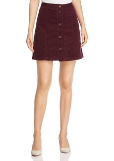 Three Dots Corduroy A-Line Mini Skirt