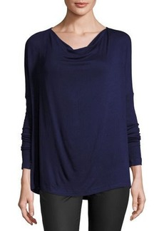 Three Dots Cowl-Neck Jersey Tunic