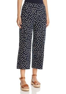 Three Dots Cropped Dot Print Pants
