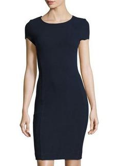 Three Dots Crystal Ribbed Body-Con Dress
