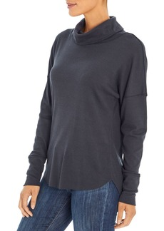 Three Dots Drop Shoulder Turtleneck