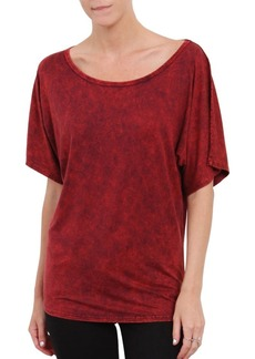 Three Dots Dyed Scoopneck Tee