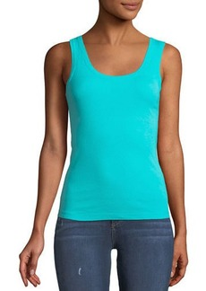 Three Dots Fitted Scoop-Neck Tank Top
