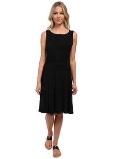 Three Dots Flare Cowl Back Dress