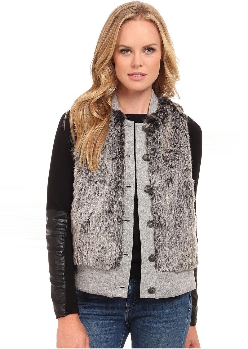 Three Dots Fur Vest