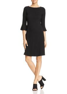 Three Dots Heritage Knit Bell-Sleeve Dress