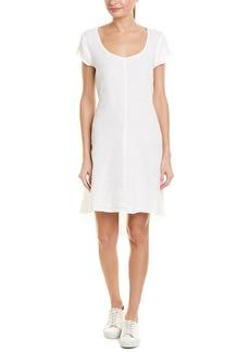 Three Dots High-Low Linen Shift Dress