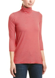 Three Dots High-Low Turtleneck Top