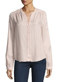 Three Dots Julia Long-Sleeve Blouse