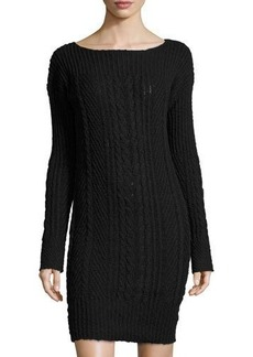 Three Dots Kelsey Cable-Knit Sweater Dress