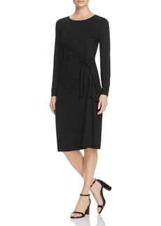 Three Dots Knot Waist Knit Dress