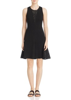Three Dots Lace Inset Dress