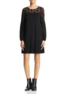 Three Dots Lace Trim Shift Dress
